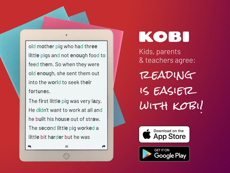 KOBI is the best learning tool for the beginning readers