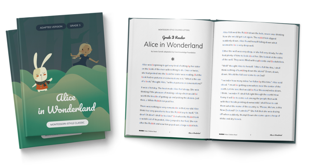 KOBI - Alice in Wonderland Book