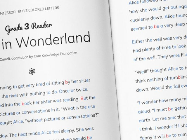 KOBI - Alice in Wonderland Book Closeup